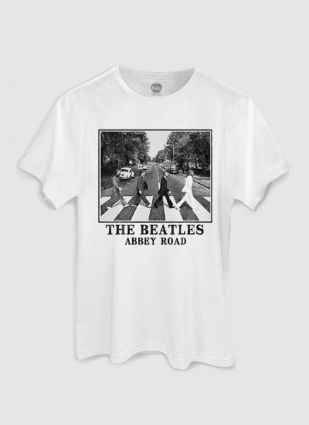 Camiseta Unissex The Beatles Abbey Road White