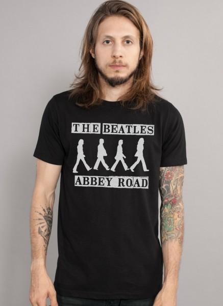 Camiseta Unissex The Beatles Abbey Road P&B
