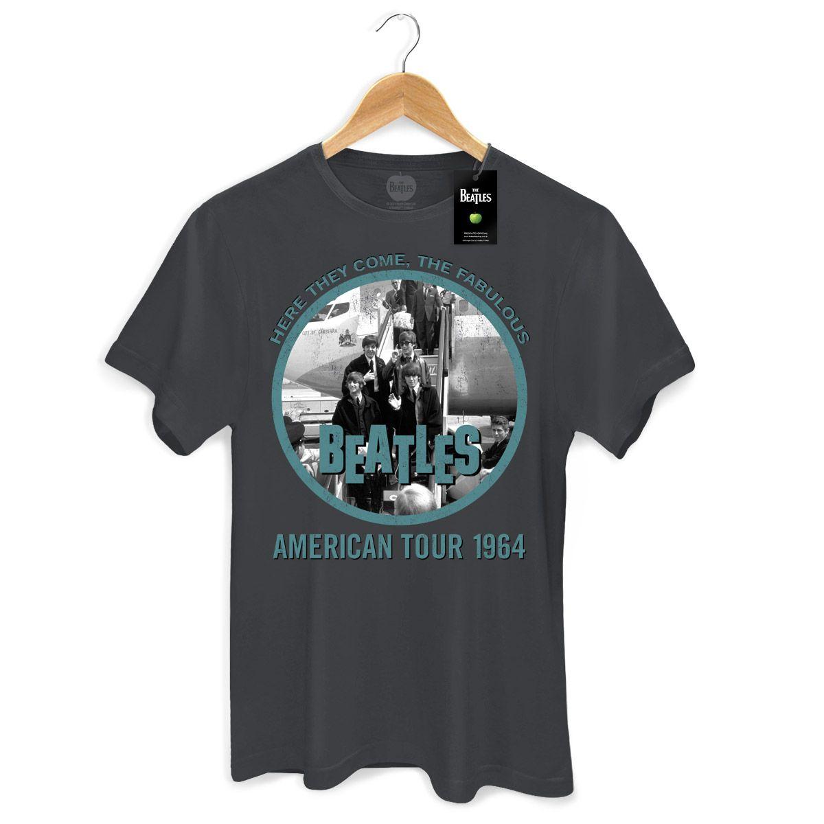 Camiseta Masculina The Beatles Fabulous American Tour 1964