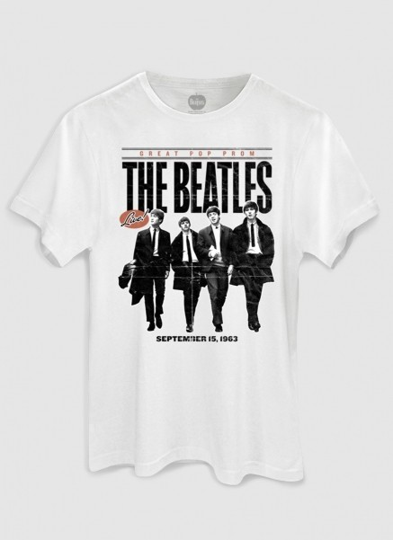 Camiseta Masculina The Beatles Great Pop Prom