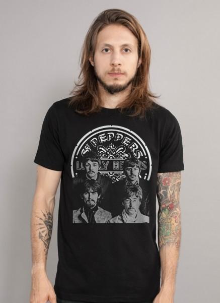 Camiseta Masculina The Beatles Sgt Pepper´s P&B
