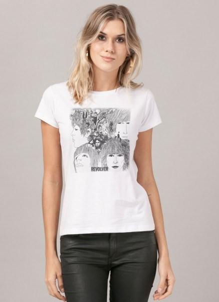Camiseta Feminina The Beatles Revolver