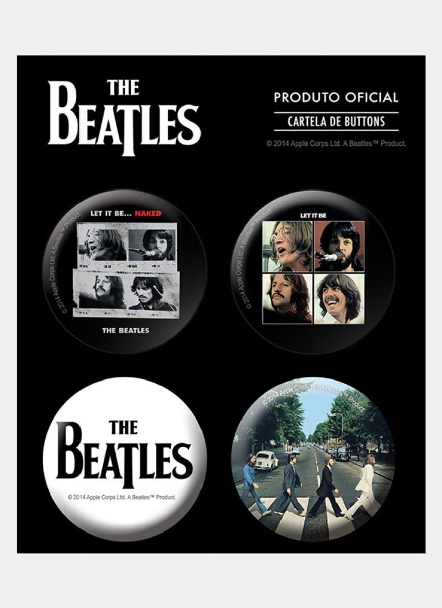 Cartela de Buttons The Beatles Albums 1