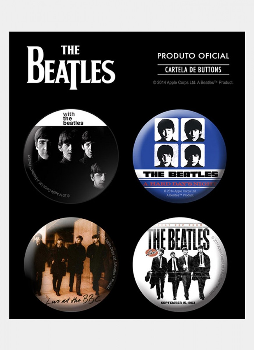 Cartela de Buttons The Beatles Albums 3