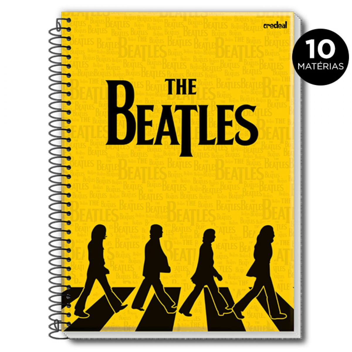 Caderno The Beatles Abbey Road Tracing 10 Matérias