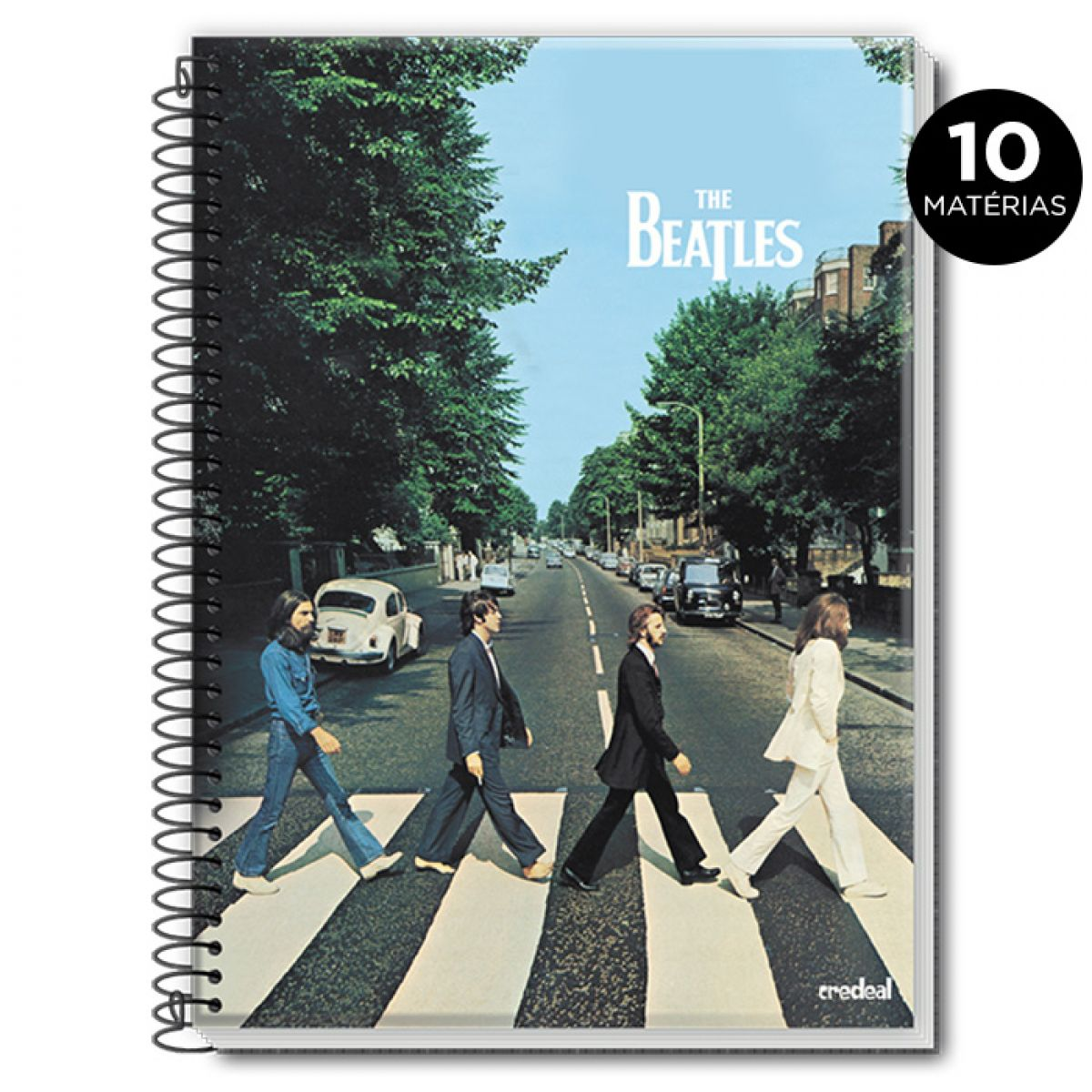 Caderno The Beatles Abbey Road Colors 10 Matérias