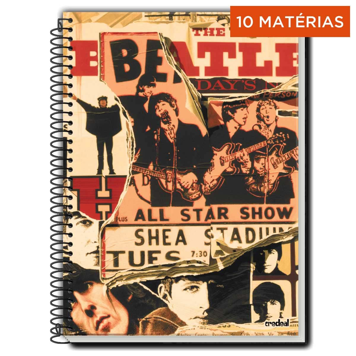 Caderno The Beatles All Star Show 10 Matérias