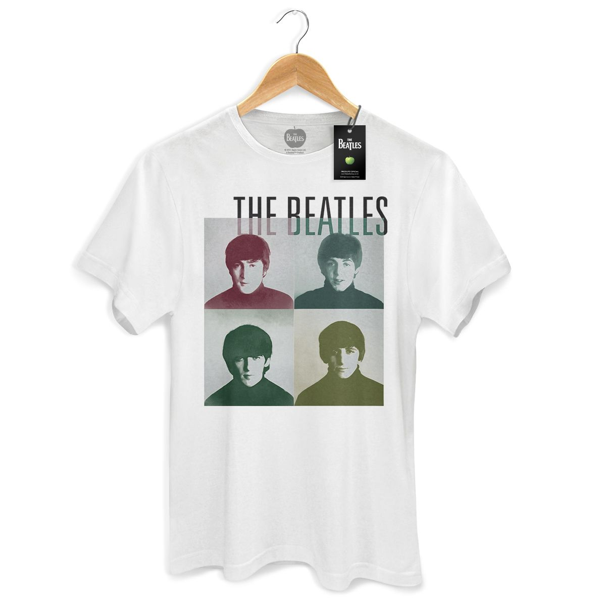 Camiseta Masculina The Beatles Four Square
