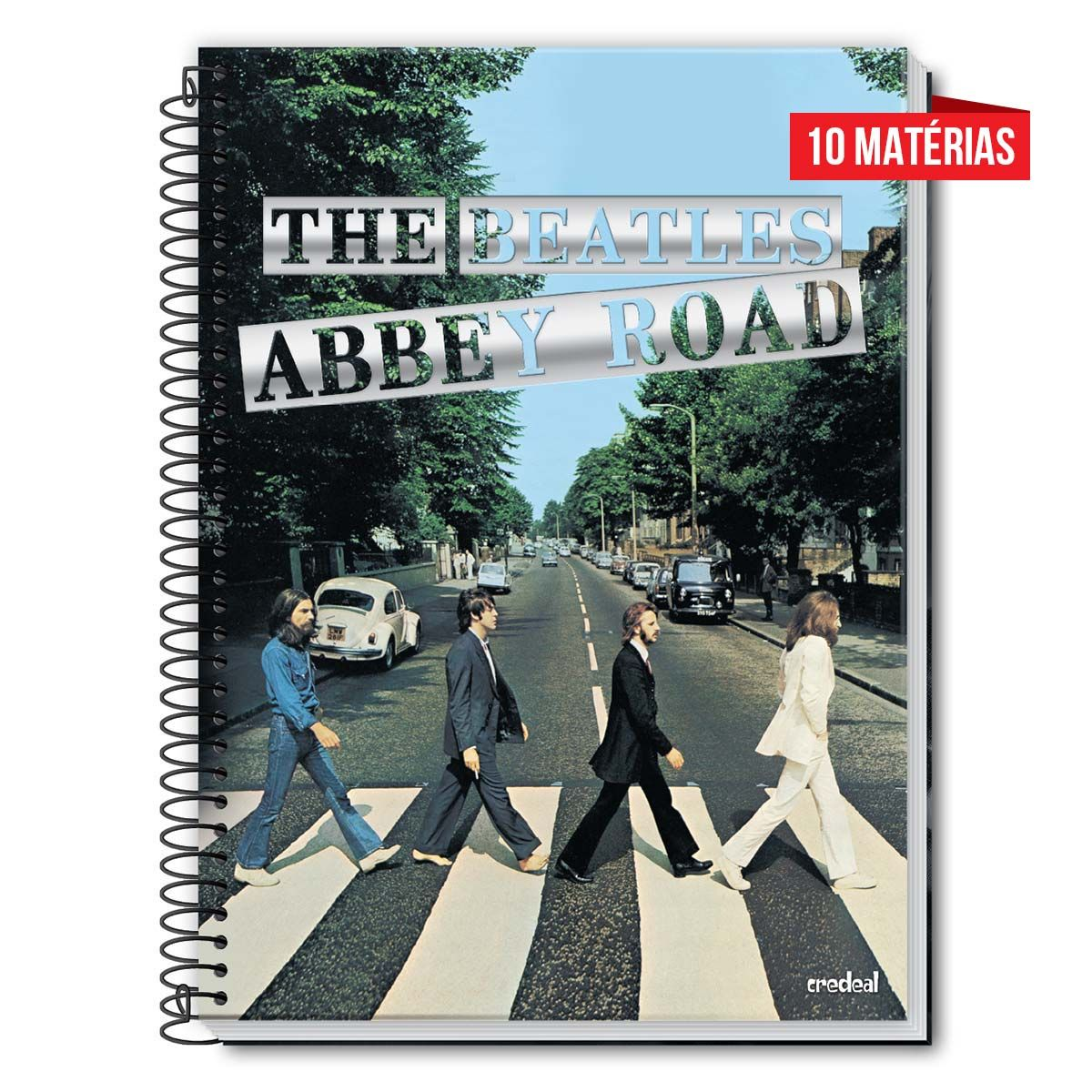 Caderno The Beatles Abbey Road 10 Matérias