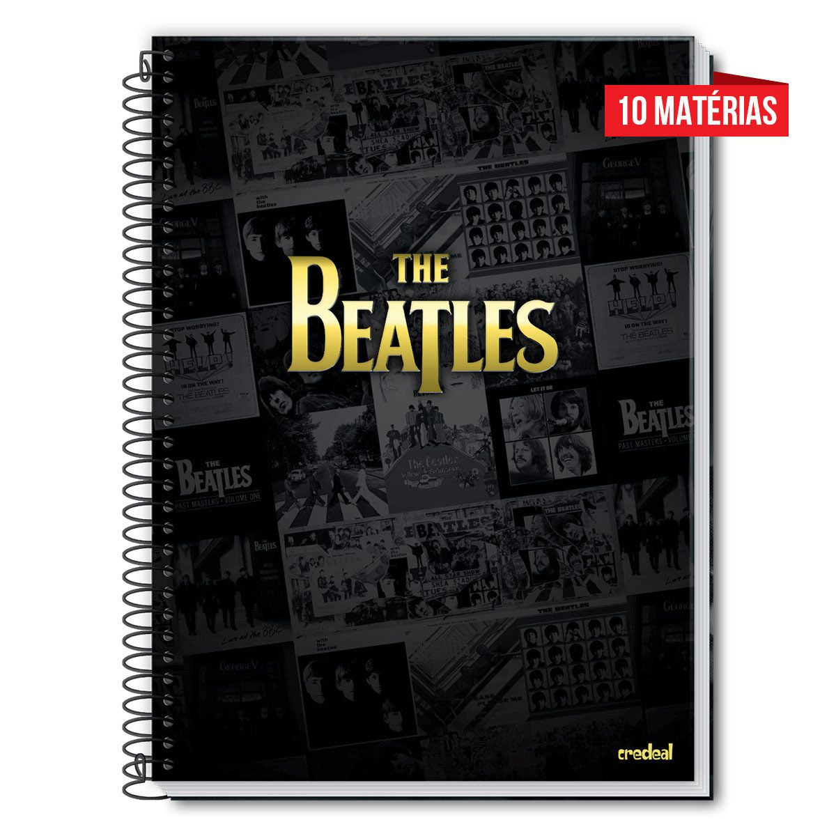 Caderno The Beatles Albums 10 Matérias
