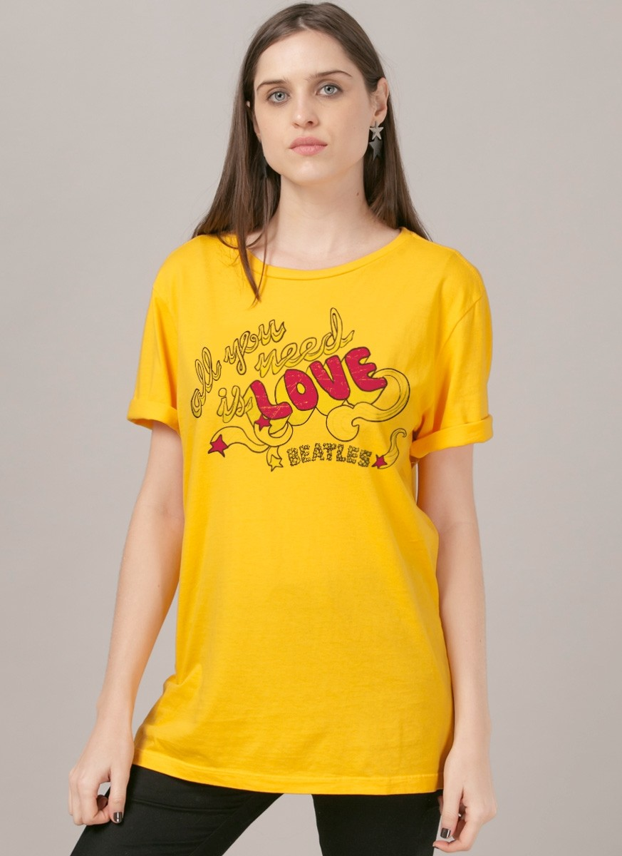 T-Shirt Feminina The Beatles All You Need Is Love