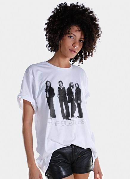 T-Shirt Feminina The Beatles White Album Basic
