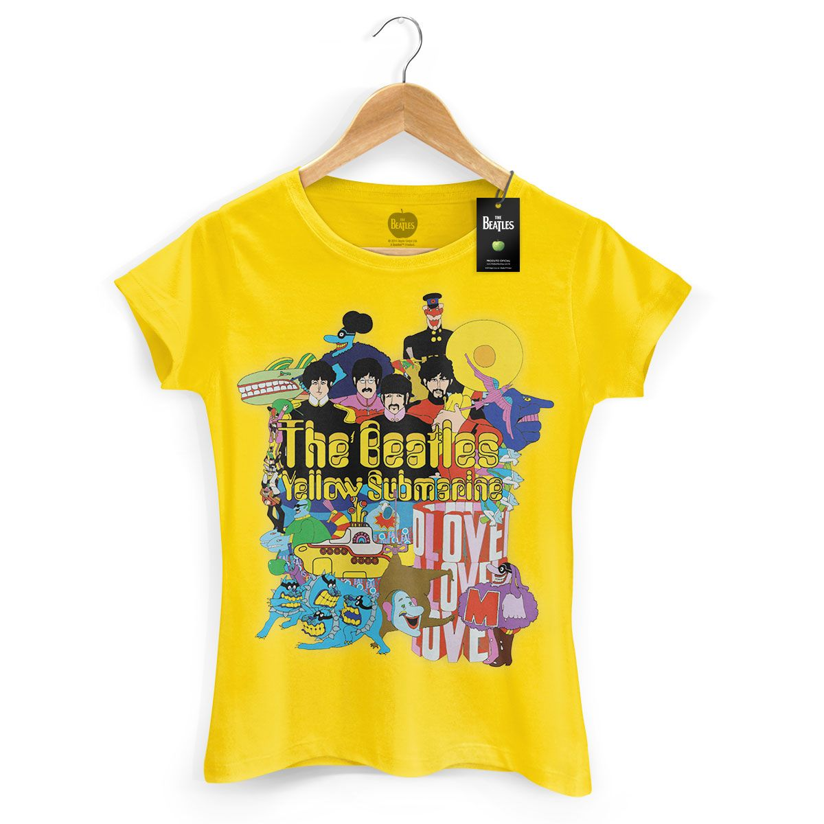 Camiseta Feminina The Beatles Yellow Submarine
