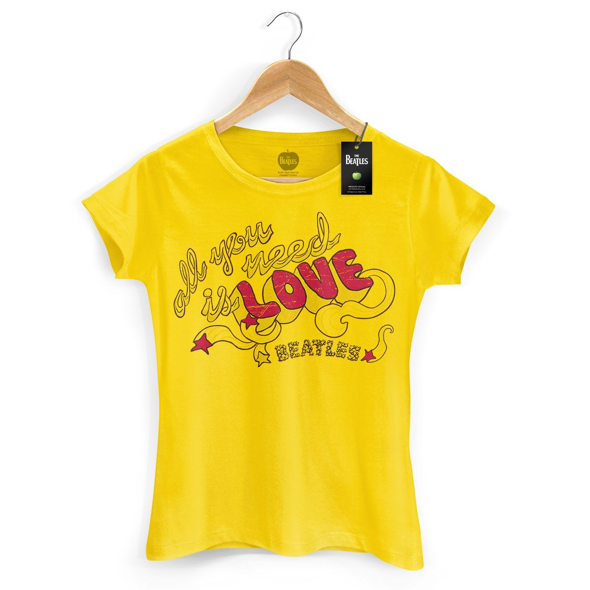 Camiseta Feminina The Beatles All You Need Is Love