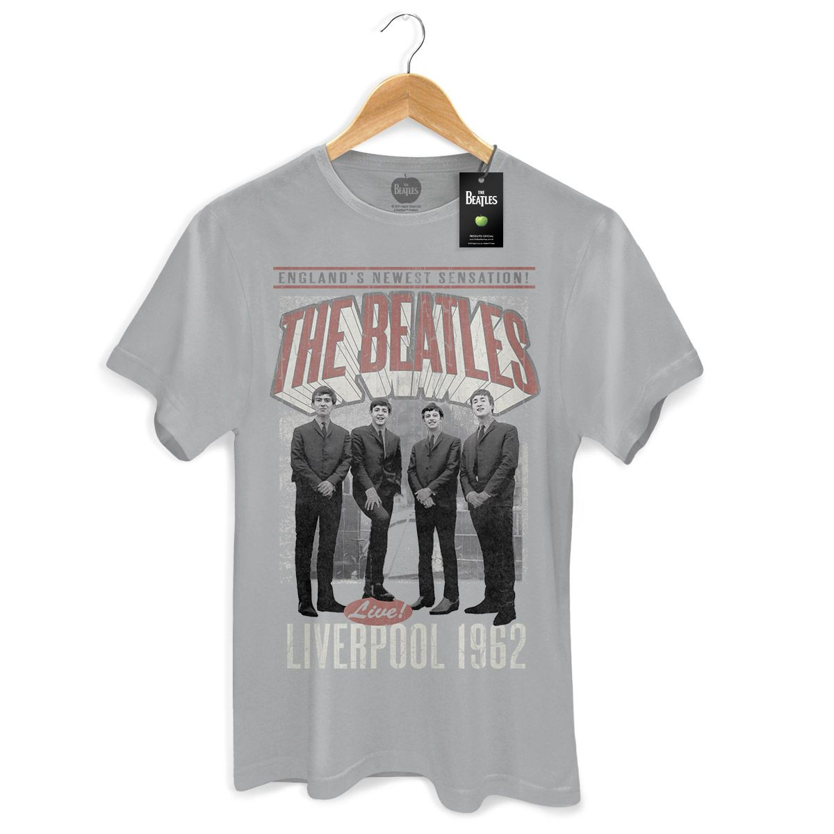 Camiseta Masculina The Beatles Liverpool 1962