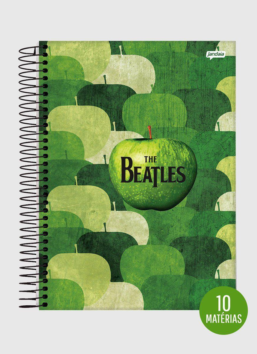 Caderno The Beatles Apple Records 10 Matérias