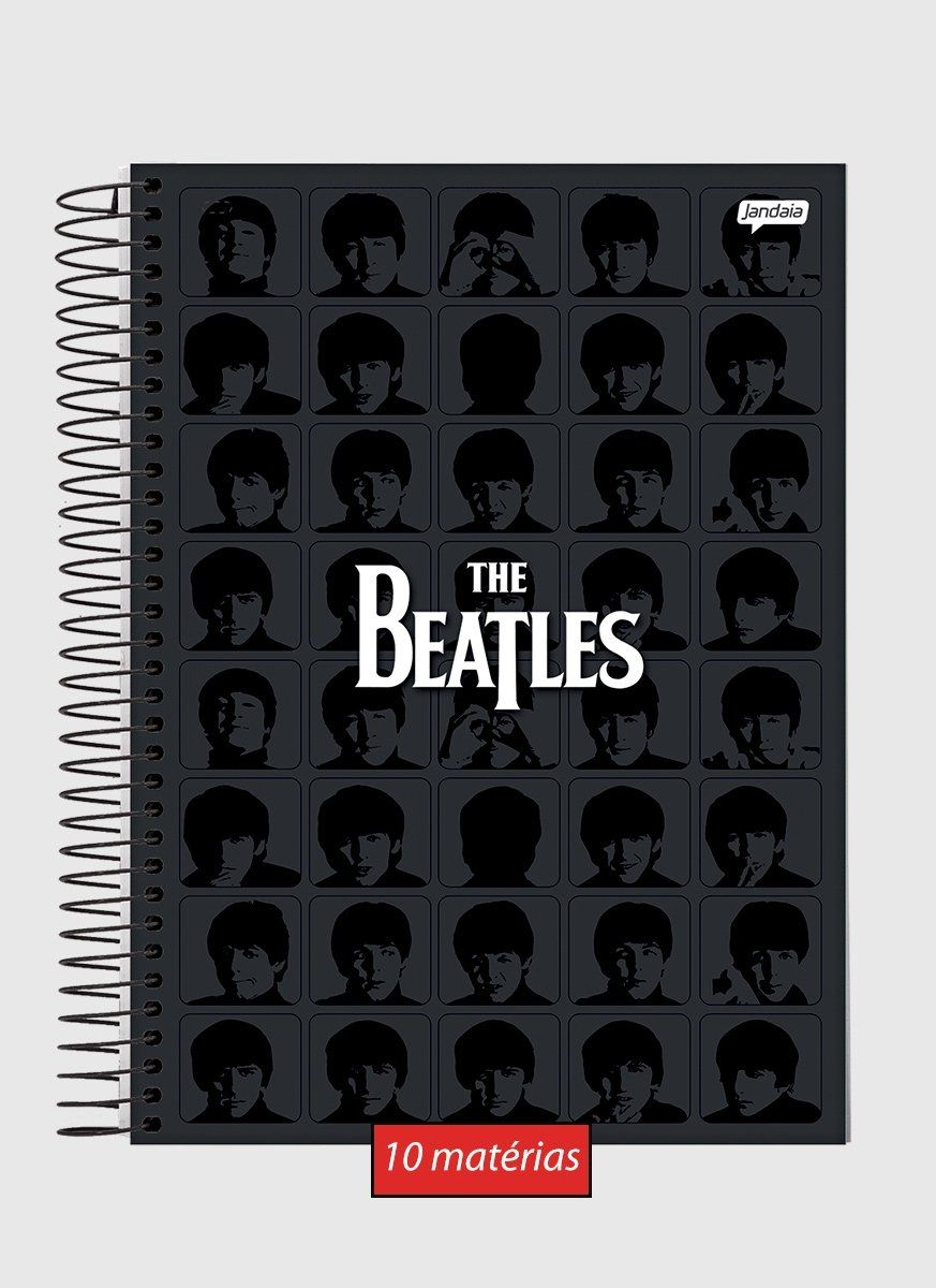Caderno 10 Matérias The Beatles Black