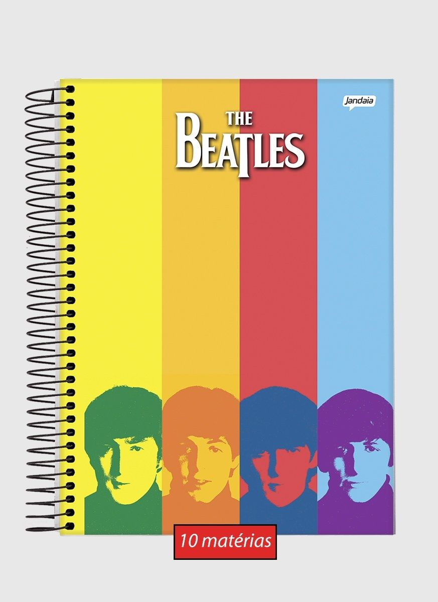 Caderno 10 Matérias The Beatles Rainbow