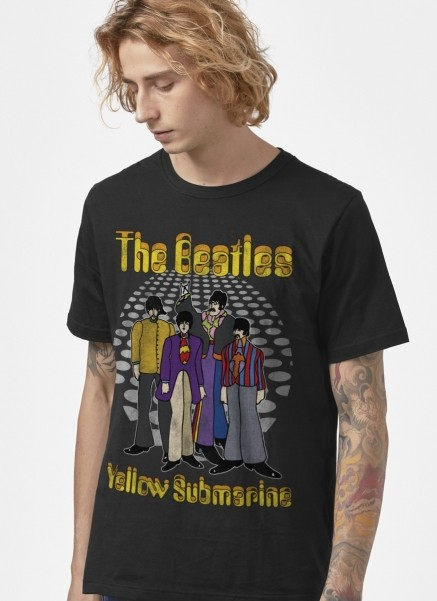 Camiseta Exclusiva The Beatles Yellow Submarine