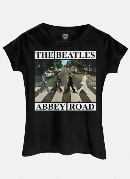 Camiseta Feminina The Beatles Abbey Road Capa