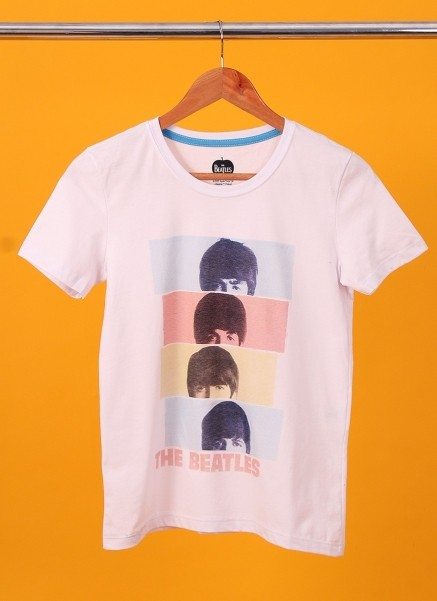Camiseta Feminina The Beatles Headshot