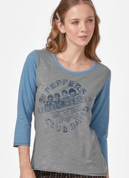 Camiseta Manga Longa Feminina The Beatles Sgt Pepper's