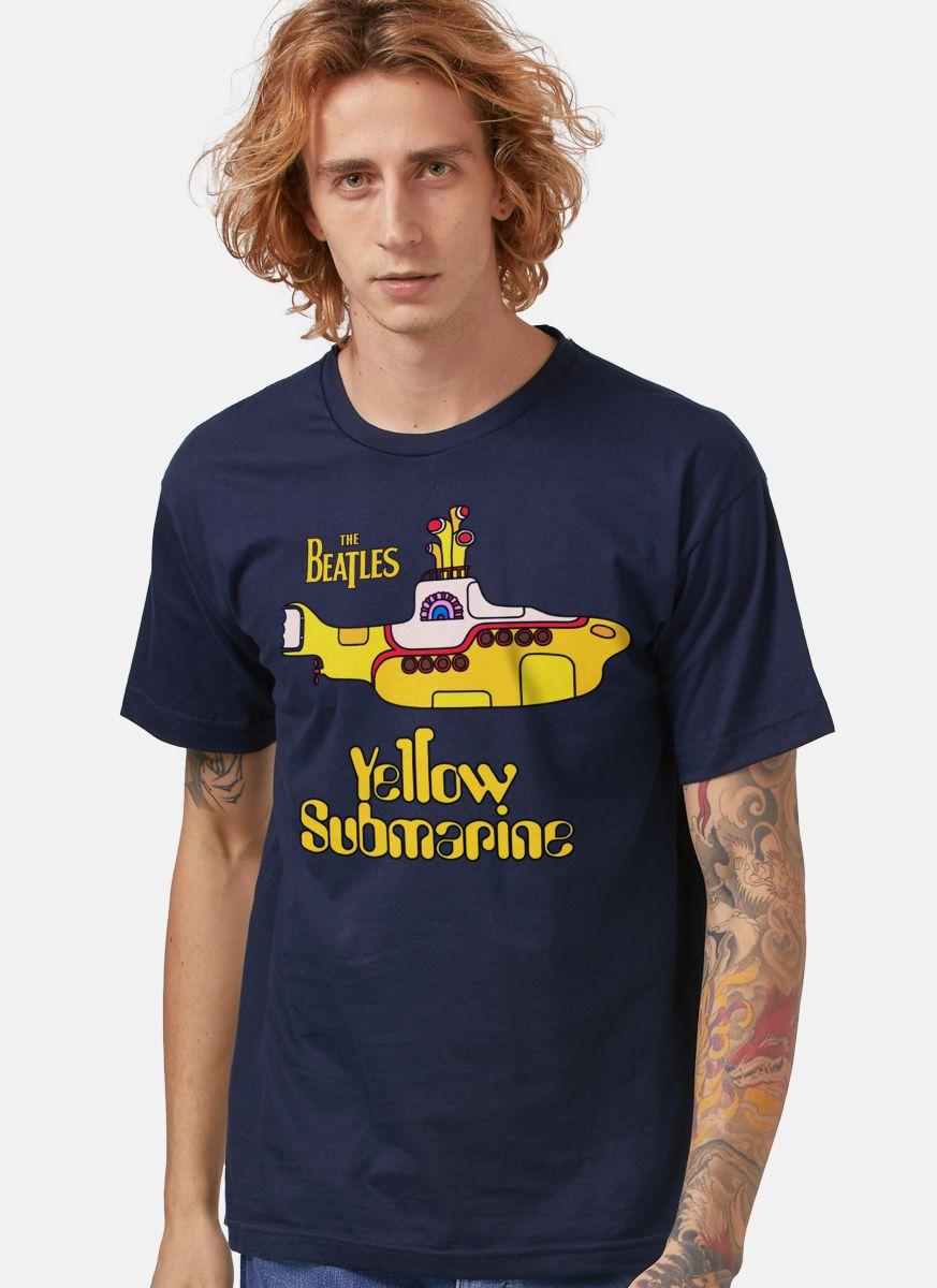 Camiseta Masculina The Beatles Yellow Submarine