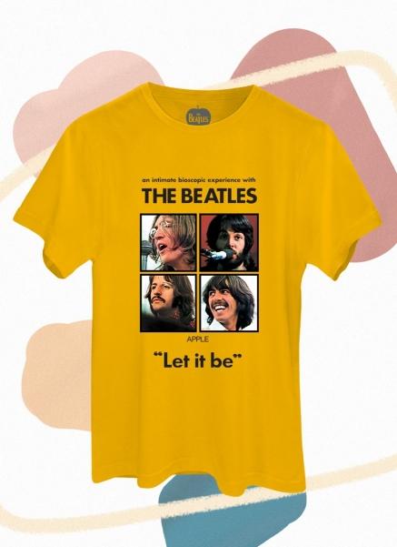 Camiseta Unissex The Beatles Apple Let It Be