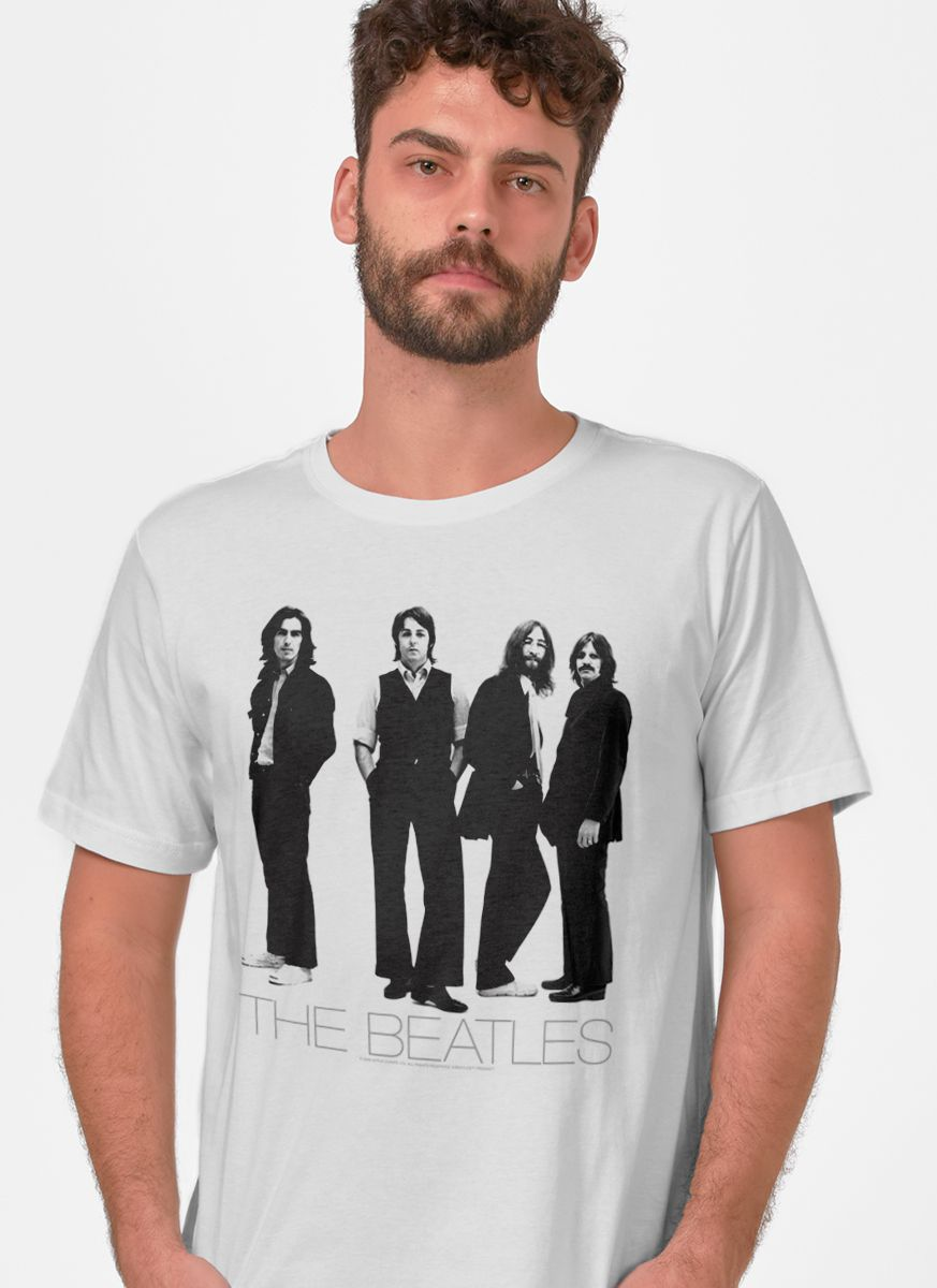 Camiseta Unissex The Beatles White Album Basic