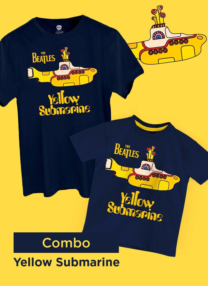 Combo Yellow Submarine Camiseta Masculina + Camiseta Infantil