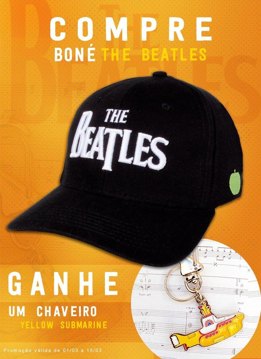 Kit Boné The Beatles Logo + Chaveiro Grátis