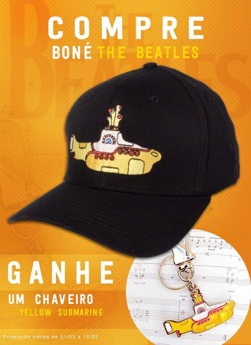 Kit Boné The Beatles Yellow Submarine + Chaveiro Grátis