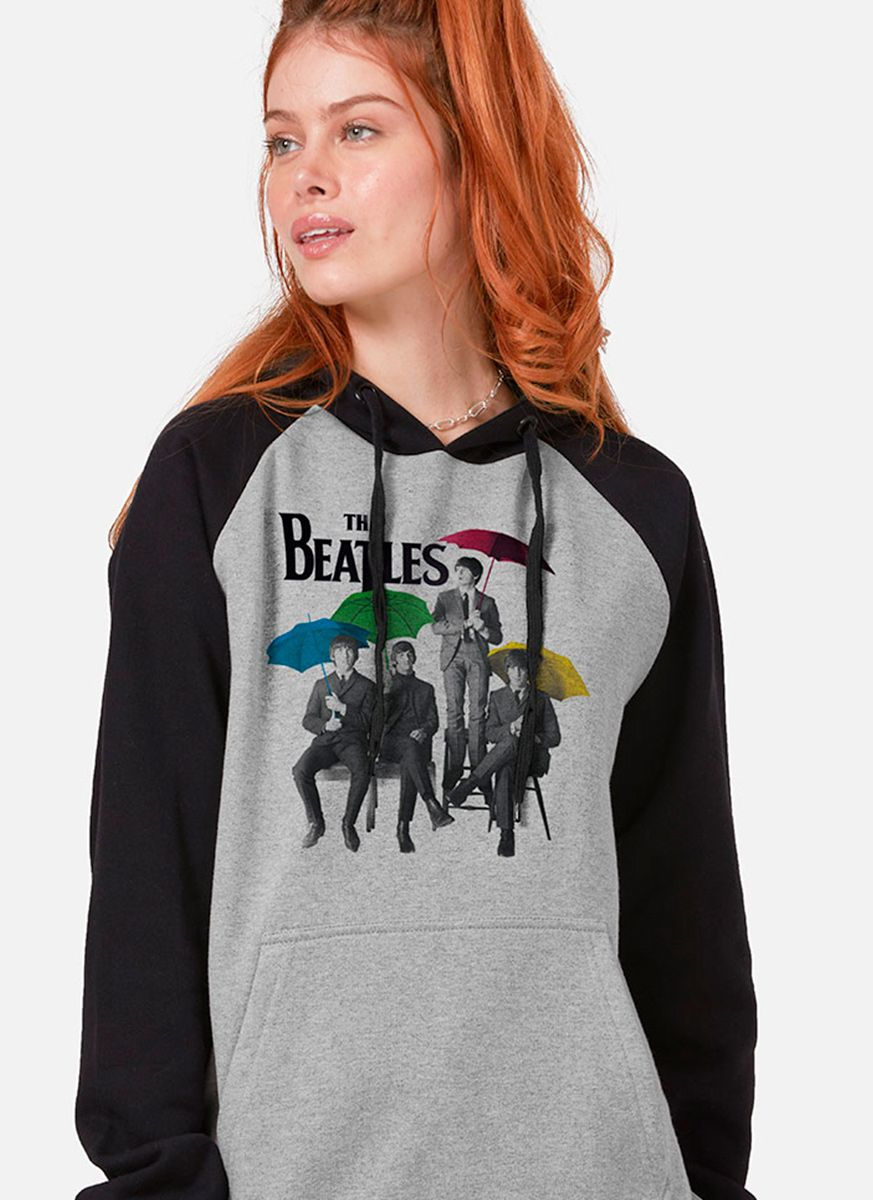 Moletom Raglan Feminino The Beatles Umbrella Colors
