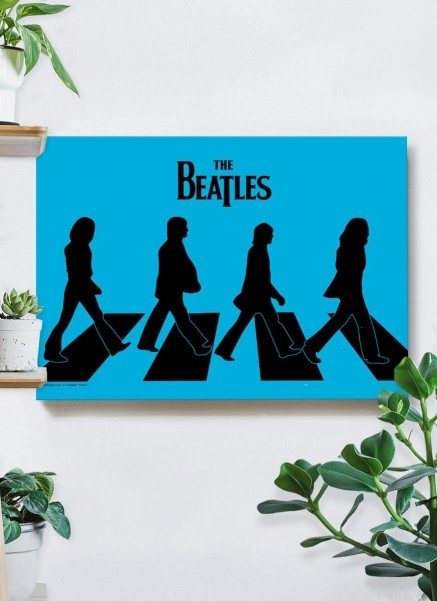 Quadro The Beatles Abbey Road Silhueta