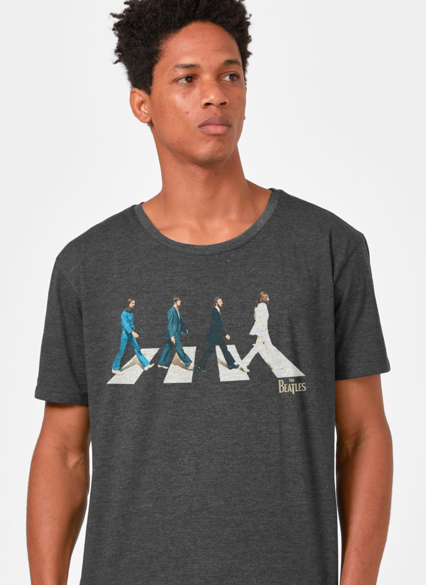 T-shirt Premium Masculina The Beatles Abbey Road