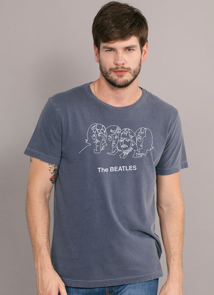 T-shirt Premium Masculina The Beatles Trace