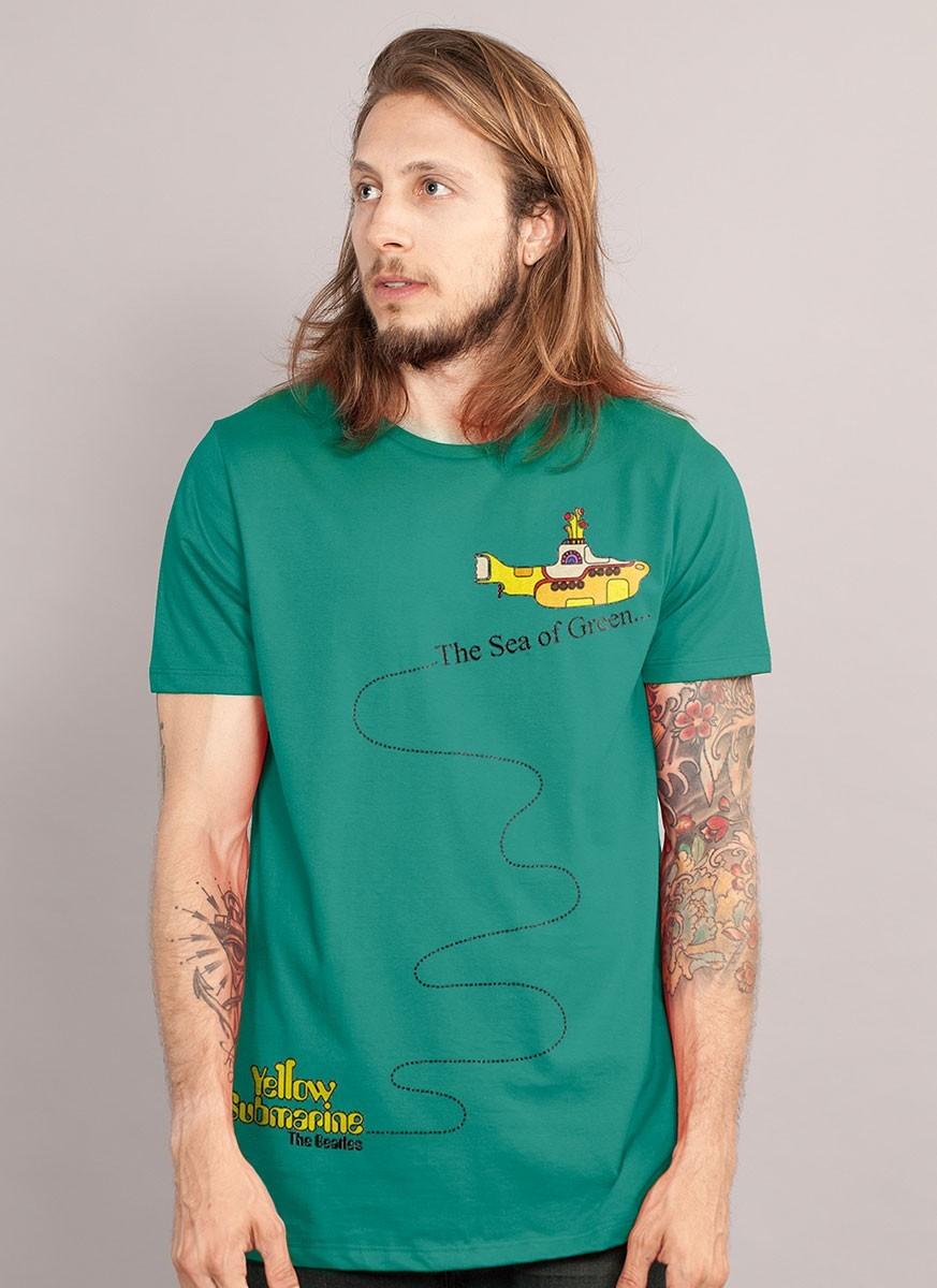 Camiseta Masculina The Beatles The Sea Of Green