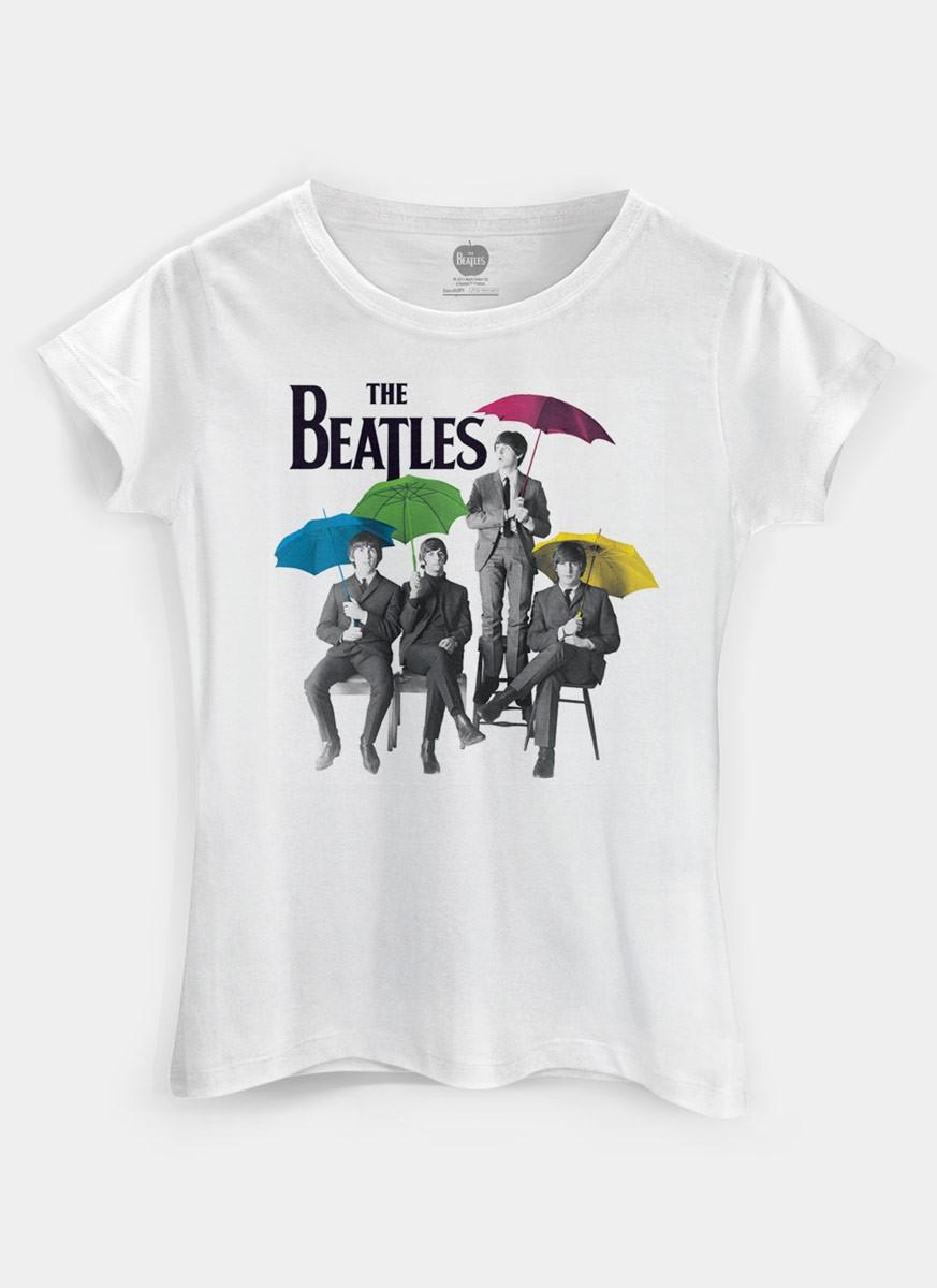 3e3373abd89 ... Camiseta Feminina The Beatles Umbrella Colors - The Beatles Shop