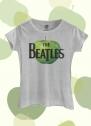 Camiseta Feminina The Beatles Logo Apple