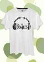 Camiseta Unissex The Beatles Logo Fone