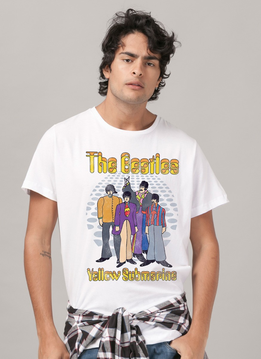 Camiseta Unissex The Beatles - Yellow Submarine Classic