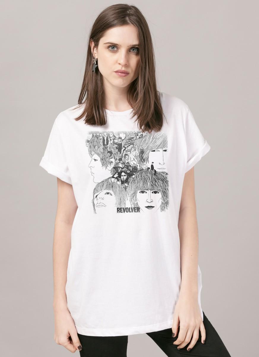 T-Shirt Feminina The Beatles Revolver