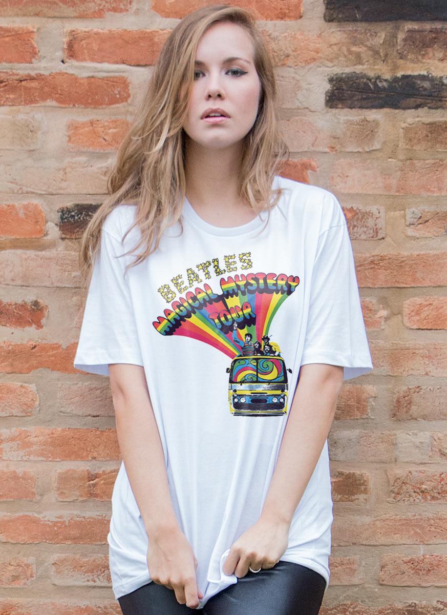 T-Shirt Feminina The Beatles Bus Basic