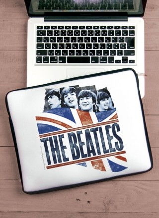 Capa Para Notebook The Beatles England Flag