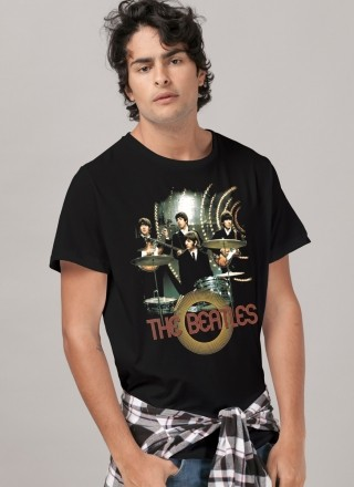 Camiseta Masculina The Beatles Picture Basic