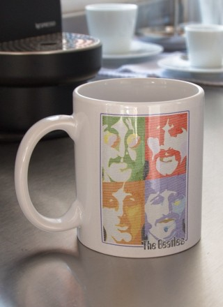 Caneca The Beatles - Pop Art Light Blue