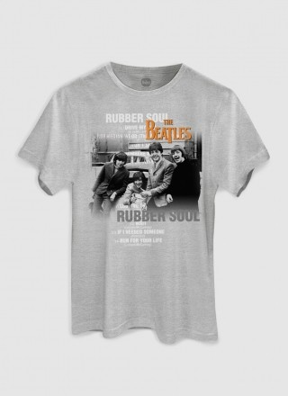 Camiseta Unissex The Beatles Rubber Soul Picture
