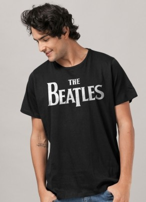 Camiseta Masculina The Beatles Classic Logo