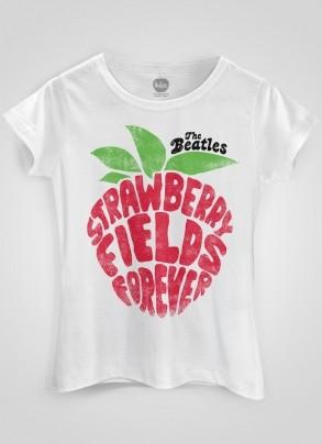 Camiseta Feminina The Beatles Strawberry Fields Forever