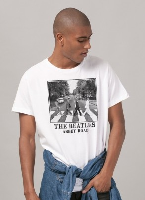 Camiseta Unissex The Beatles Abbey Road White